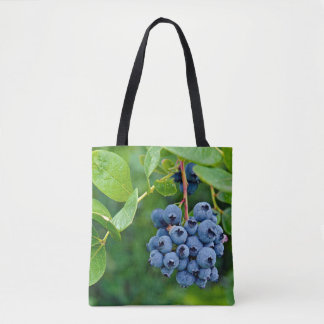 blueberry bunch tote bag