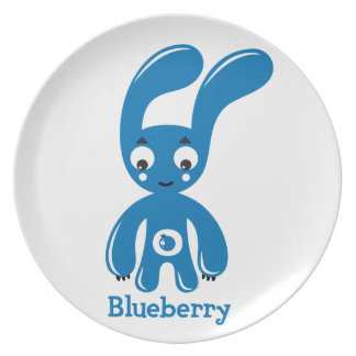 Blueberry Bunny Party Plate