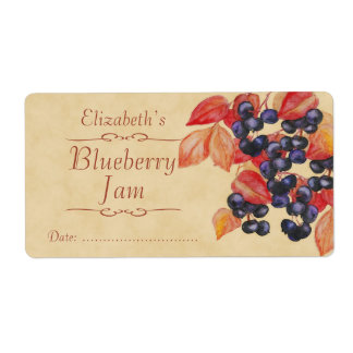Blueberry Canning label Shipping Label