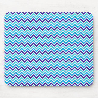 Blueberry Chevron Pattern Zig Zag blue mouse pad