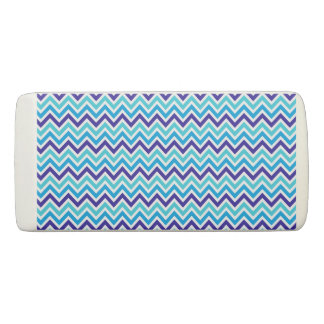 Blueberry Chevron Pattern Zig Zag plaid eraser