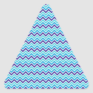 Blueberry Chevron Pattern Zig Zag Print Stripe Triangle Sticker