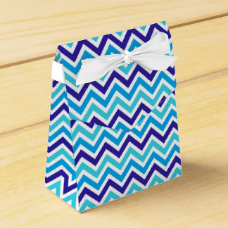 Blueberry Chevron Pattern Zig Zag Stripe Print Favour Box