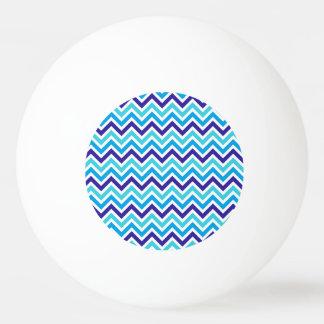 Blueberry Chevron Stripe Zig Zag Ping Pong Ball