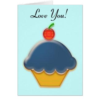 Blueberry Cupcake Art Card
