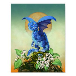 Blueberry Dragon 11x14 Print