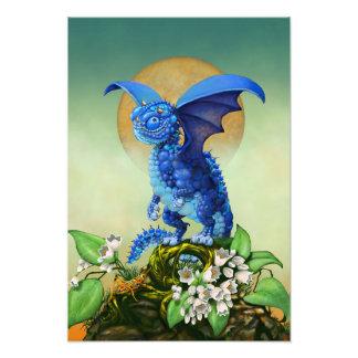 Blueberry Dragon 13x19 Print