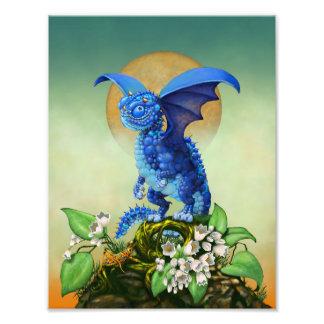 Blueberry Dragon 8.5x11 Print