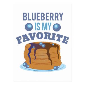 Blueberry Favorite Postcard