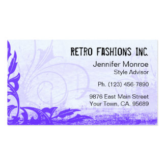 Blueberry Grunge Distressed Business Cards