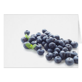 Blueberry isolated ON white Card