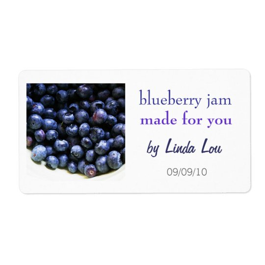 Blueberry Jam Preserves Label Shipping Label