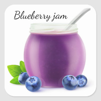 Blueberry jam square sticker