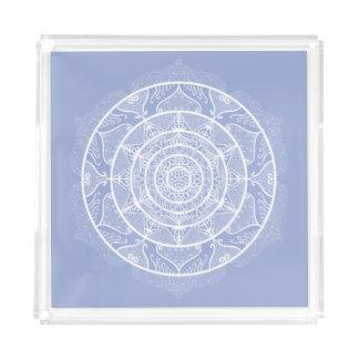 Blueberry Mandala Acrylic Tray