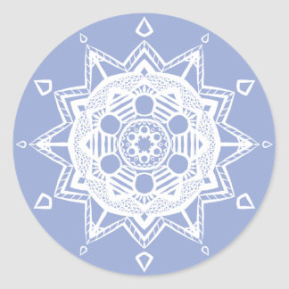 Blueberry Mandala Classic Round Sticker