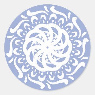 Blueberry Mandala Classic Round Sticker