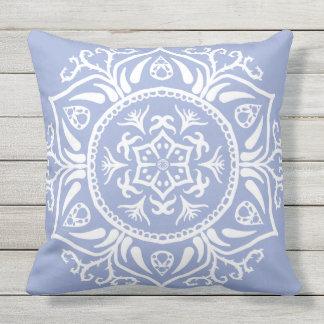 Blueberry Mandala Outdoor Cushion
