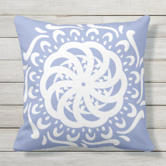 Blueberry Mandala Throw Pillow