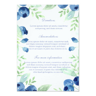 Blueberry Midsummer Rustic Berry Wedding Card