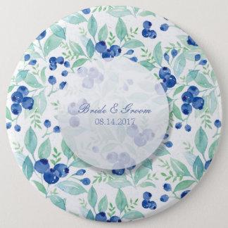 Blueberry Midsummer Rustic Wedding 6 Cm Round Badge