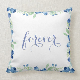 Blueberry Midsummer Rustic Wedding Forever Throw Pillow
