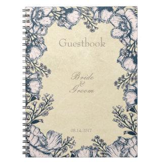 Blueberry Midsummer Rustic Wedding guest book