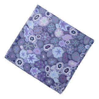 Blueberry Millefiori Head Kerchief