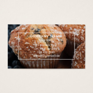Blueberry Muffin Bakery Business Card