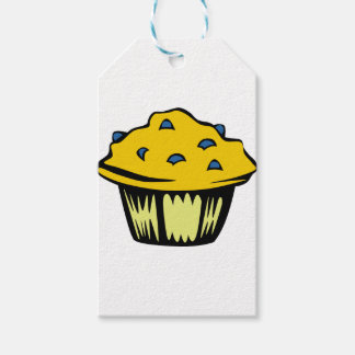 Blueberry Muffin Cartoon Gift Tags