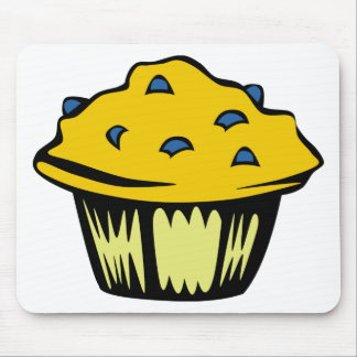 Blueberry Muffin Cartoon Mouse Pad