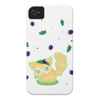 Blueberry Muffin Kitty iPhone 4 Case-Mate Cases