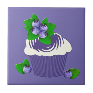 Blueberry Muffin Purple Ceramic Tile