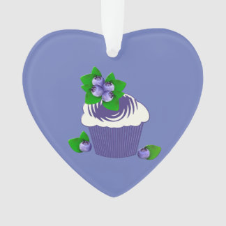 Blueberry Muffin Purple Ornament