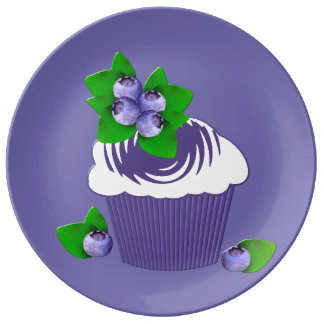 Blueberry Muffin Purple Plate