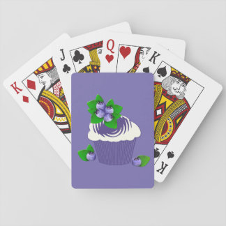 Blueberry Muffin Purple Playing Cards
