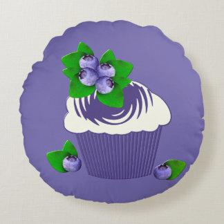 Blueberry Muffin Purple Round Cushion