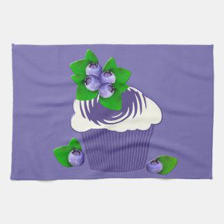 Blueberry Muffin Purple Tea Towel