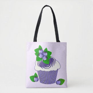 Blueberry Muffin Purple Tote Bag