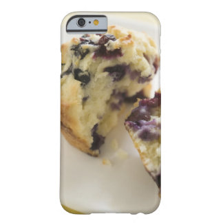 Blueberry muffin split open on a white plate barely there iPhone 6 case