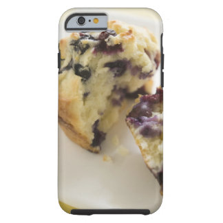 Blueberry muffin split open on a white plate tough iPhone 6 case