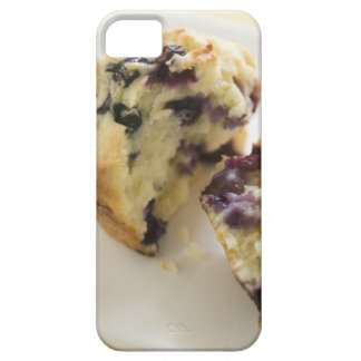 Blueberry muffin split open on a white plate iPhone 5 covers