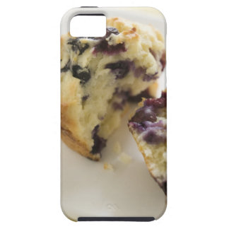 Blueberry muffin split open on a white plate case for the iPhone 5