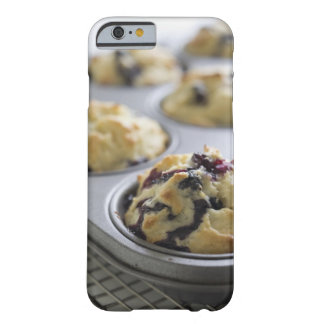 Blueberry muffins in a baking tin on a cooling barely there iPhone 6 case