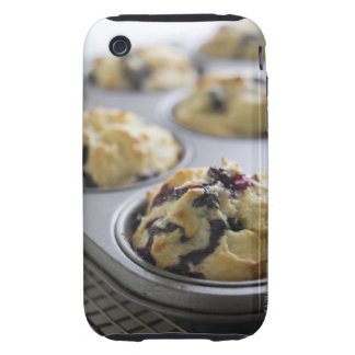 Blueberry muffins in a baking tin on a cooling iPhone 3 tough case