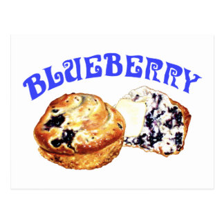 Blueberry Muffins Postcard
