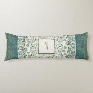 Blueberry Nouveau Art Deco Body Pillow