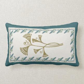 Blueberry Nouveau Art Deco Lumbar Pillow Sprig