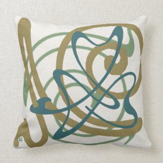 Blueberry Nouveau Art Deco Throw Pillows