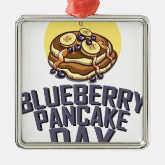 Blueberry Pancake Day - Appreciation Day Metal Ornament