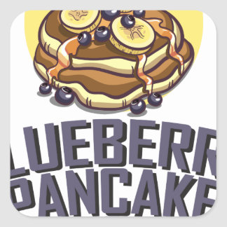 Blueberry Pancake Day - Appreciation Day Square Sticker